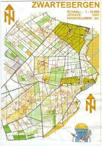Voorbeeld van een IOF-kaart (bron: http://delaatstepost.blogspot.be)