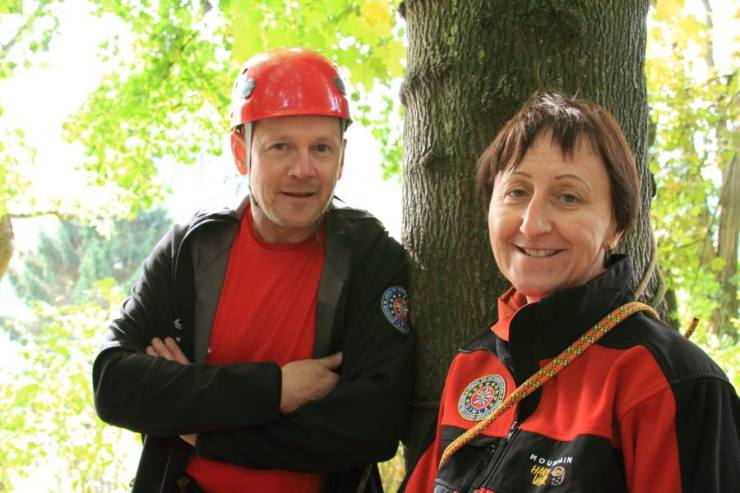 Onze twee instructeurs in niveau 3: Dominique Olbrechts en Chantal Scohy.